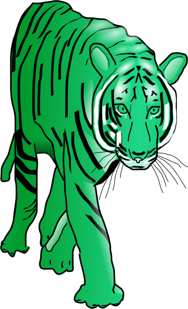 Transparent tiger clipart - Vector Clip Art - Walking Tiger Animated Gif