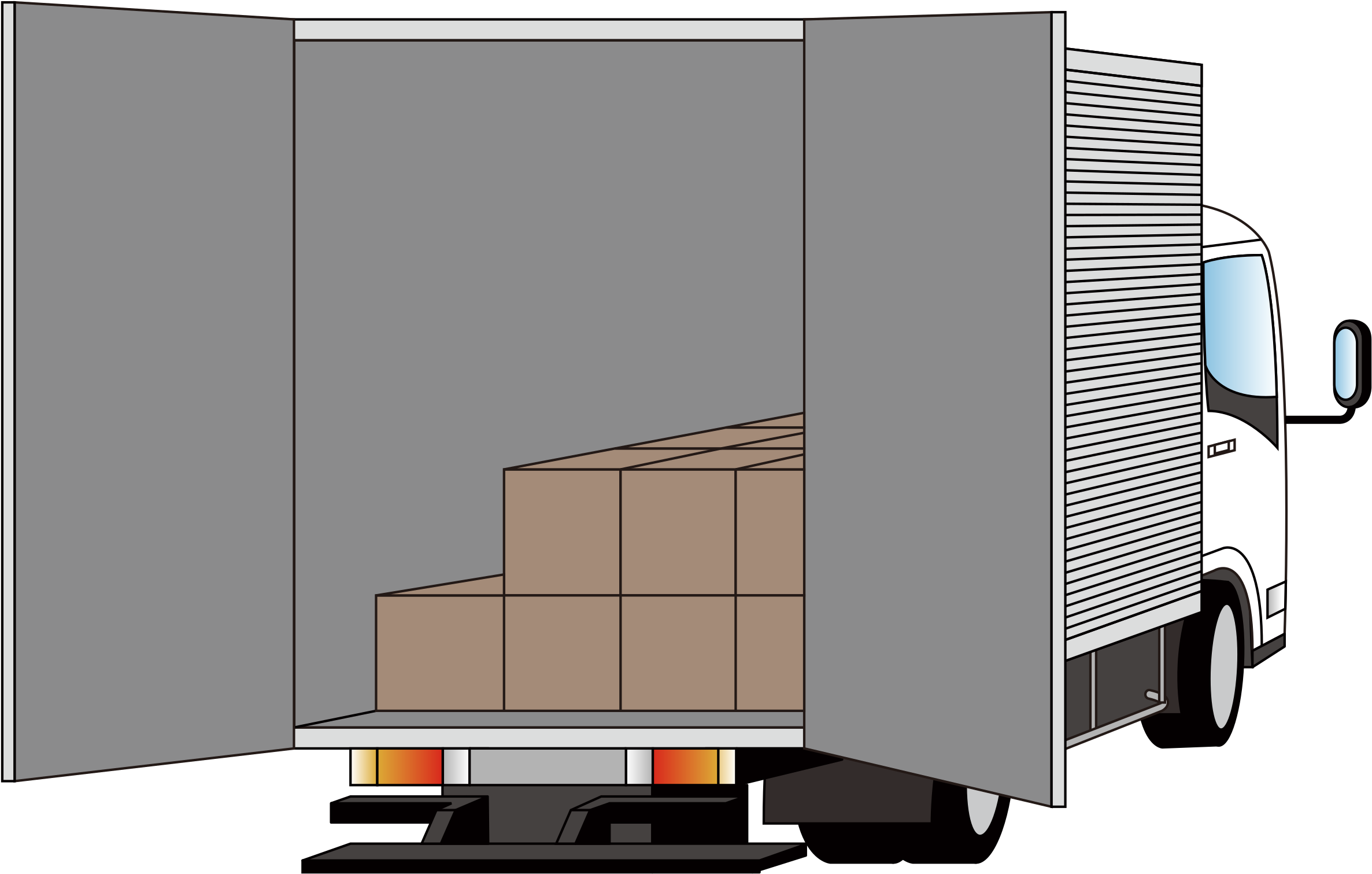 Transparent truck clipart - Keys Clipart Truck - Rear Of Delivery Truck