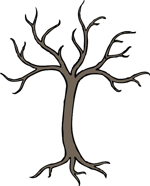 Transparent apple tree clipart - Dead, Black, Simple, Apple, Fall, Fruit, Outline - Easy Dead Tree Drawing