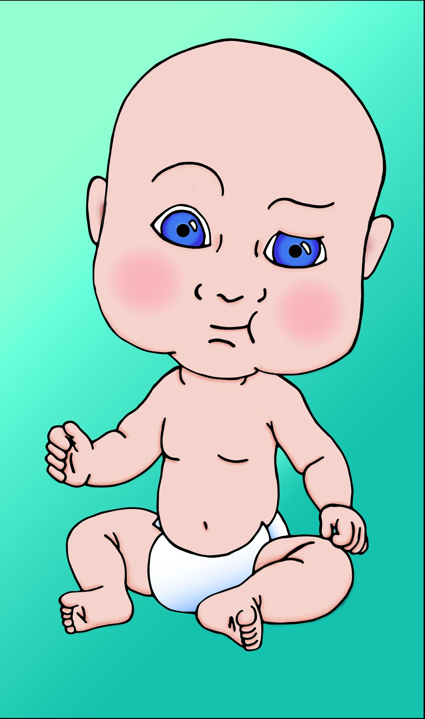 Transparent baby moana clipart - Baby Head Png - Big Head Baby Cartoon