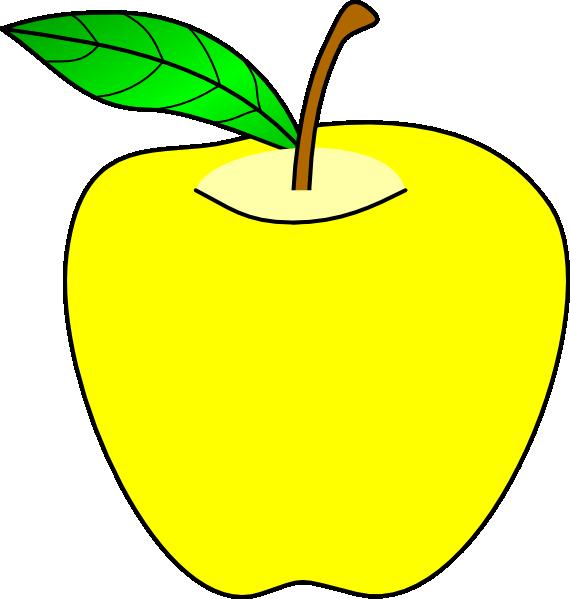 Transparent apple tree clipart - Yellow Apple Clip Art