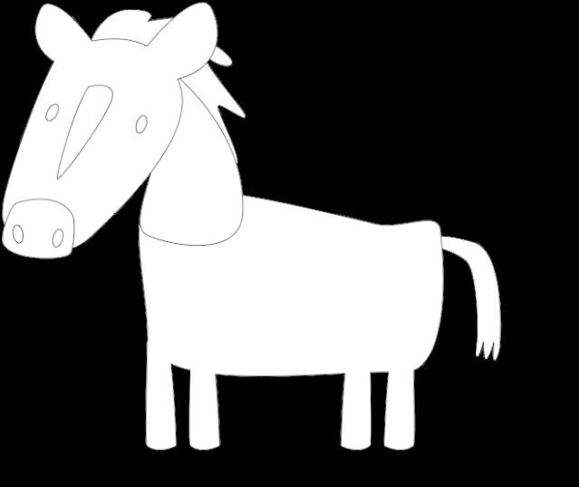 Transparent horse outline clip art - Huni Huni Flashcard Coloring Page Outline Kabayo Horse - Line Art