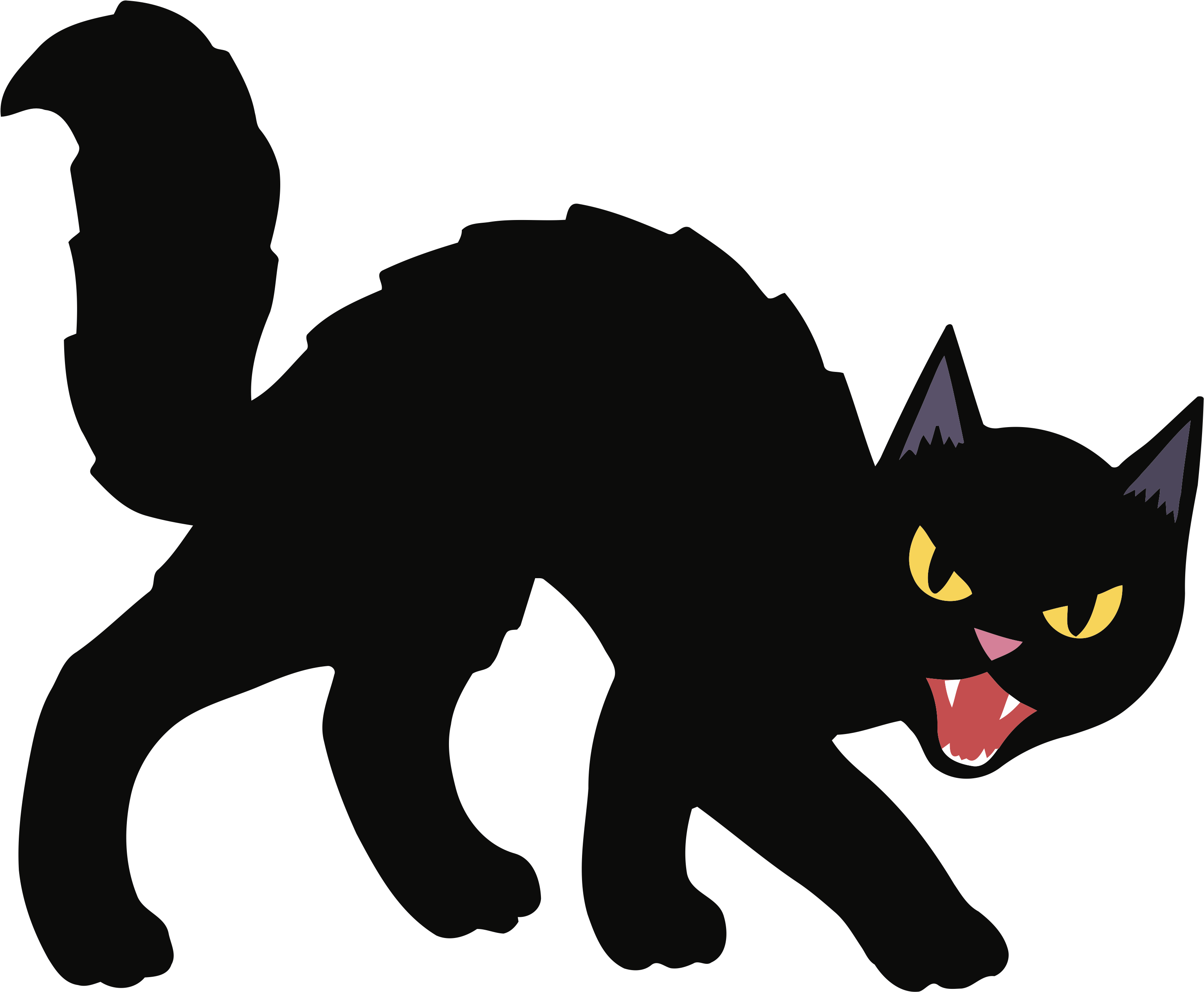 Transparent halloween black cat clip art - Black Cat Kitten Halloween Clip Art - Scary Halloween Black Cat