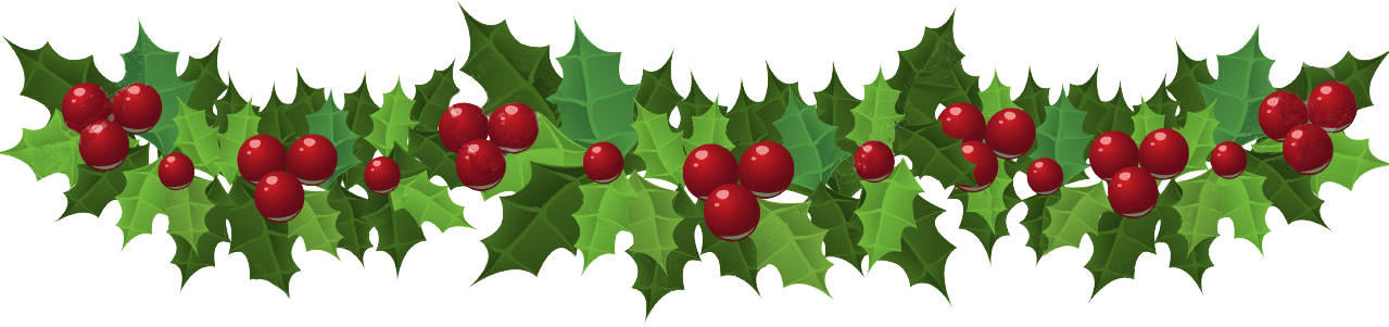 Transparent holly banner clip art - Christmas Holly Garland Clipart