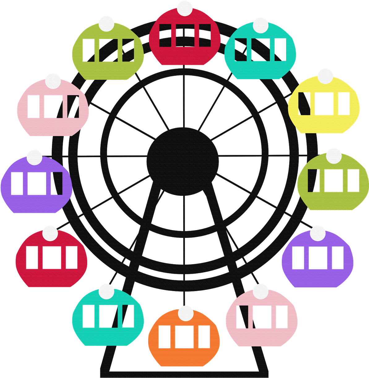 Ferris Wheel Clipart Png Transparent Cartoon Jing Fm