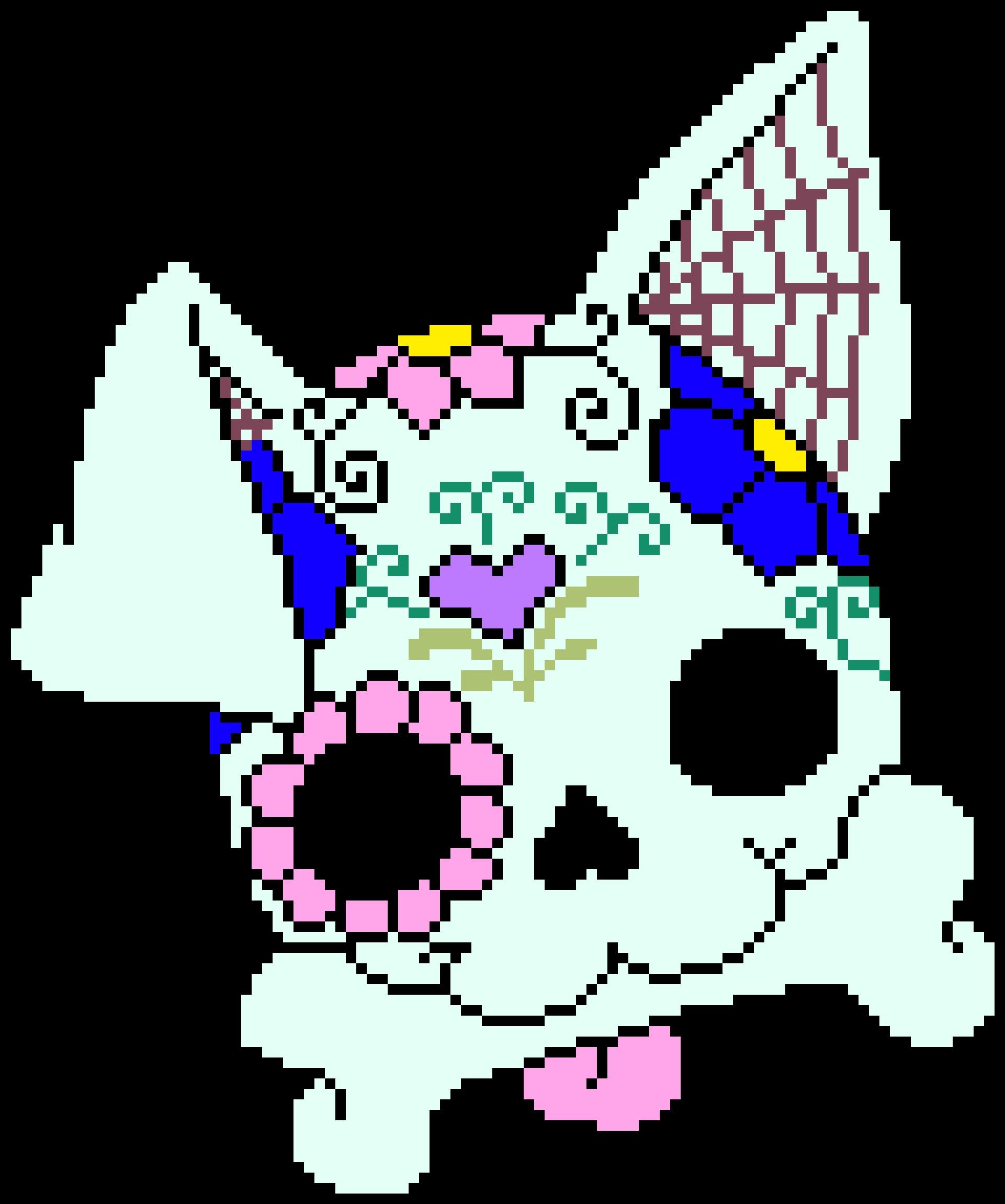 Transparent simple sugar skull clip art - Sugar Skull Dog - Sugar Skull Dog Cross Stitch Pattern
