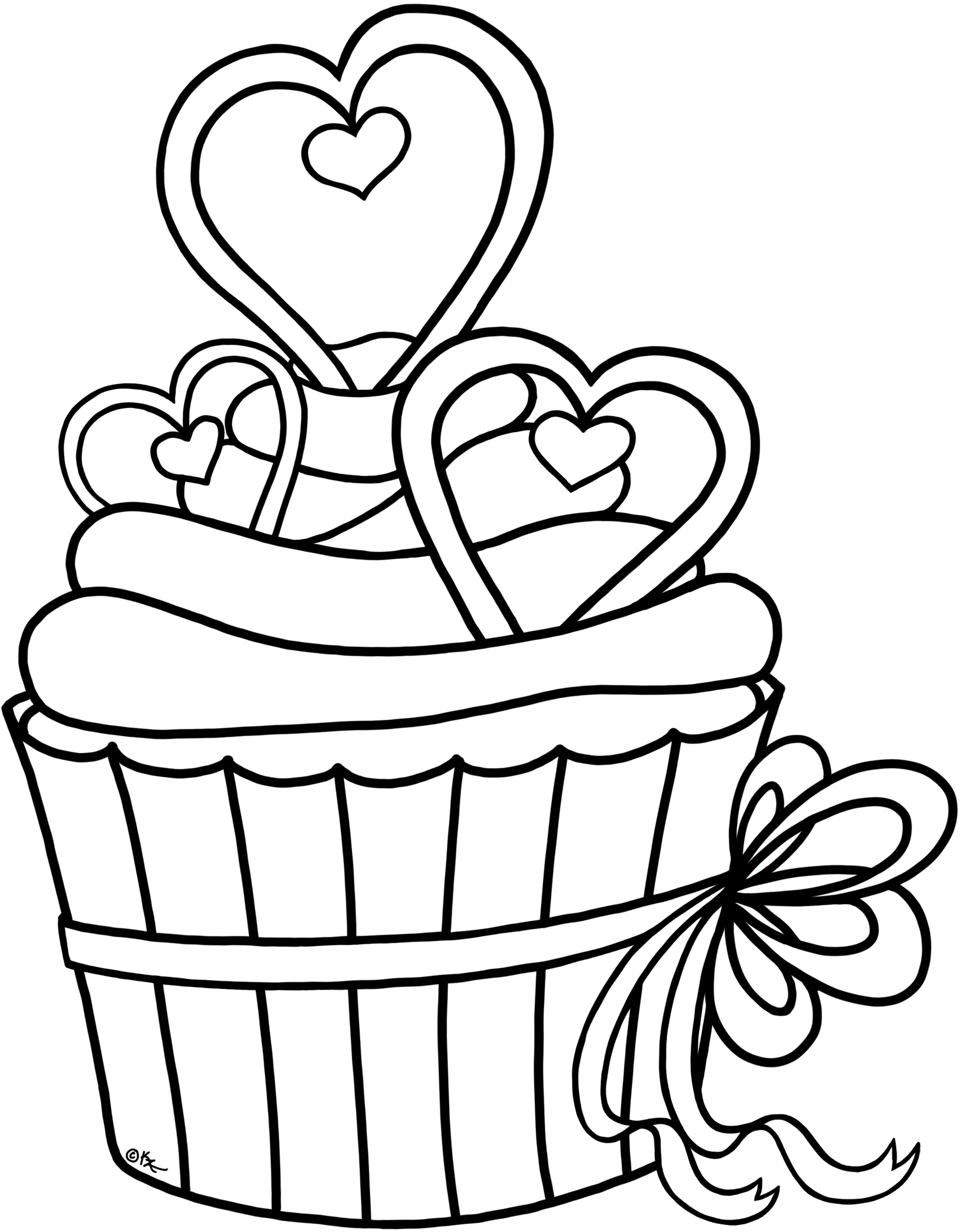 Transparent shuffleboard clipart - Royalty-free Images Cupcake Outline Clipart - Heart Cupcake Coloring Pages