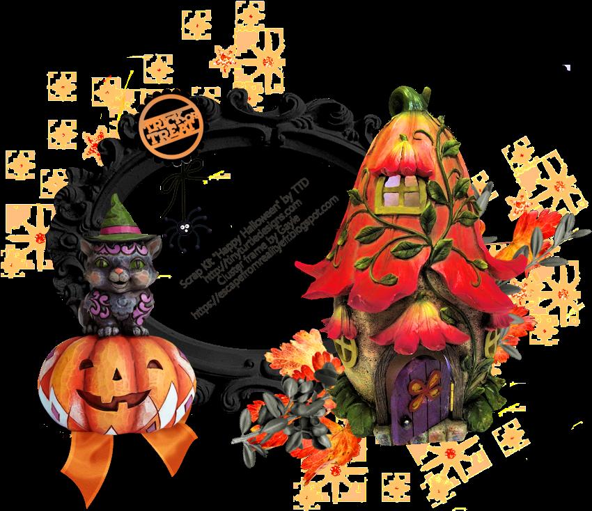Transparent halloween frames clip art - Jack-o'-lantern
