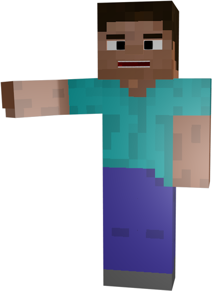 Steve Holding Out Made Minecraft Free Transparent Background