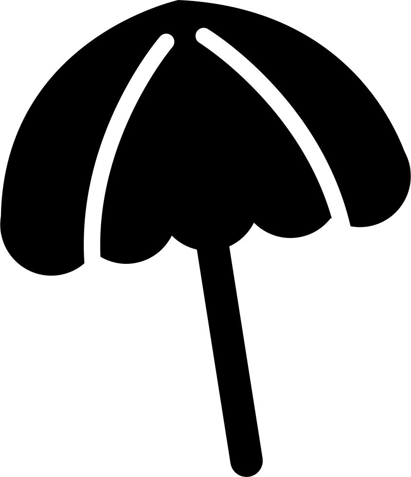 Transparent beach umbrella clip art black and white - Black Beach Umbrella - Icono De Sombrilla