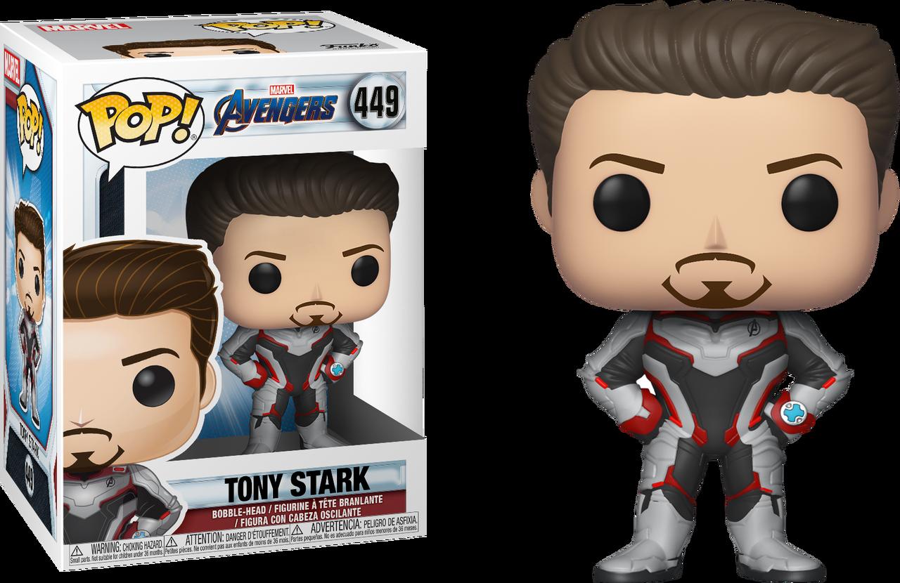 Transparent avengers endgame clipart - Tony Stark In Team Suit Pop Vinyl Figure - Iron Man Funko Pop Endgame