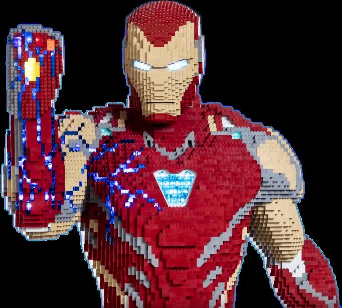Transparent iron man flying clipart - Lego Iron Man Endgame