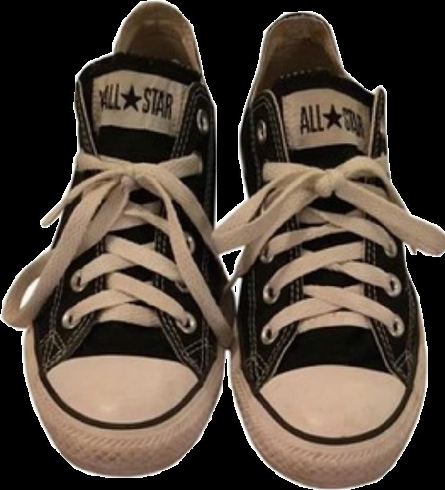 Transparent converse tennis shoe clipart - #converse #sneakers #shoes #niche #moodboard #freetoedit - Niche Shoes Png