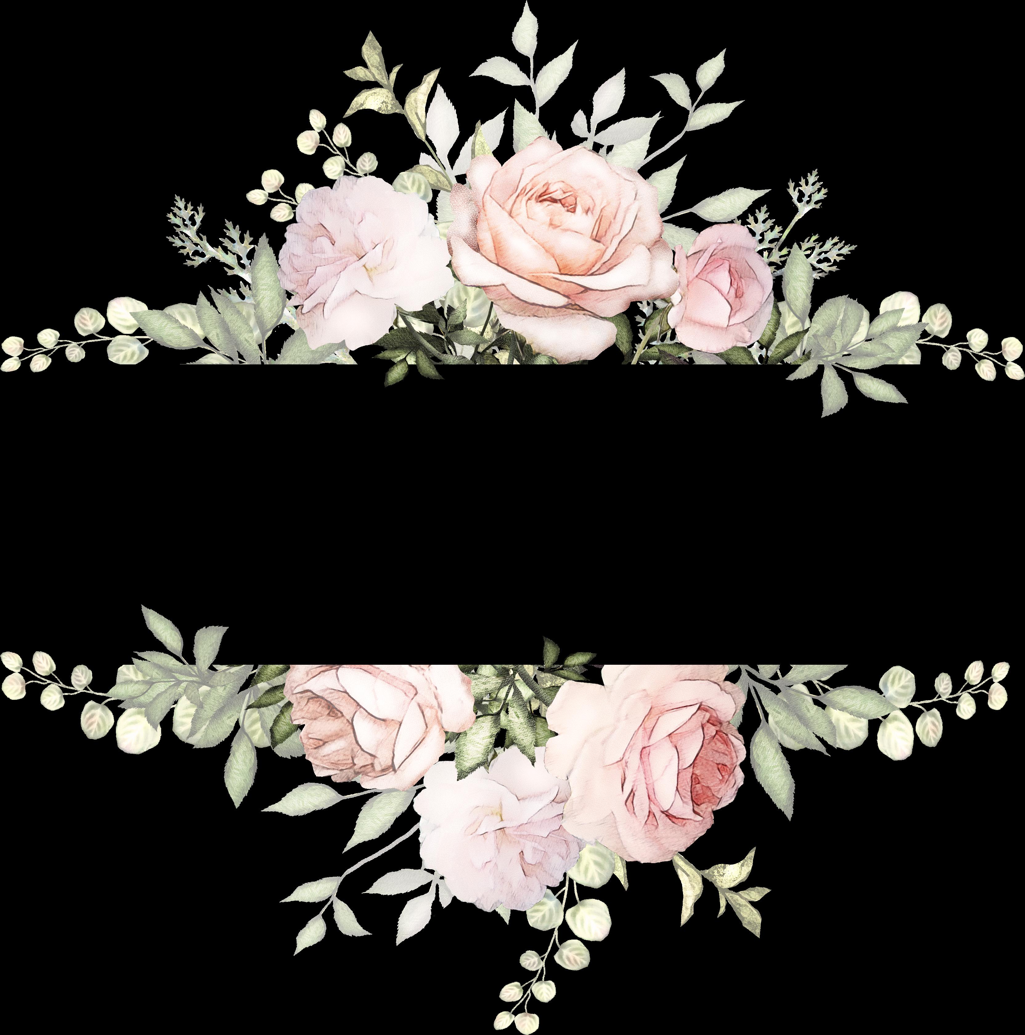 Transparent watercolor flowers clipart png - Vintage Watercolor Flowers Background , Png Download - Transparent Background Flower Wreath