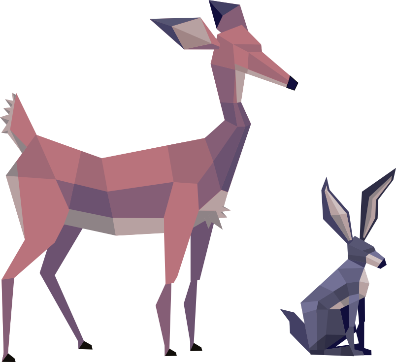 Transparent how to draw a gazelle clipart - Low Poly Art Concept