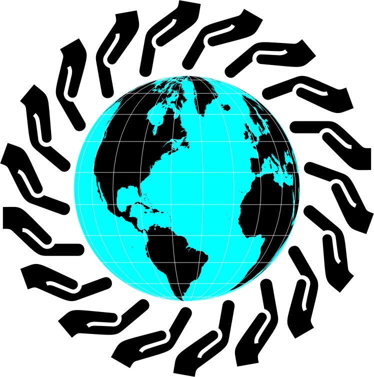 Transparent caring for others clipart - Cartoon Clip Caring - World Map Globe Png