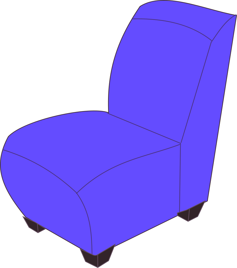 Transparent beach chair clipart black and white - Chair Clipart, Vector Clip Art Online, Royalty Free - Clipart Of Soft Objects