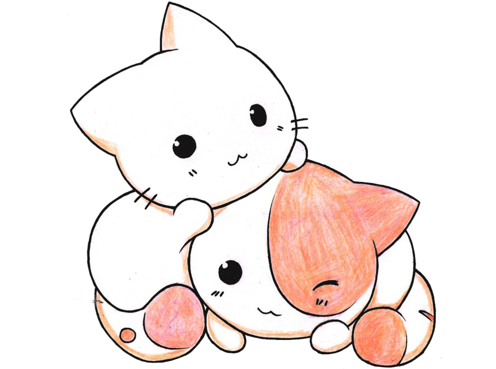 Kitten Clipart Kawaii Kawaii Cute Cats Drawing Transparent