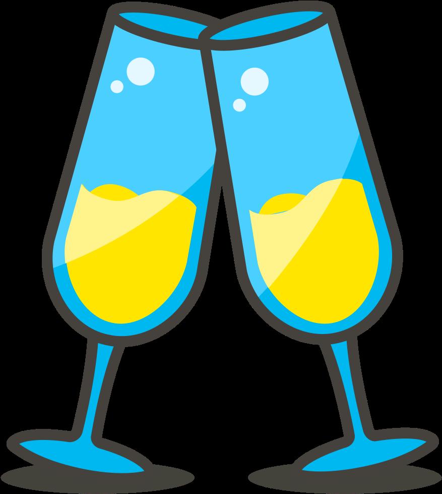 Transparent toast clipart - 579 Clinking Glasses - Gambar Gelas Pesta Png