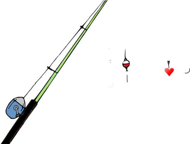 Fishing Pole Clipart Heart Fishing Rod Transparent Background Transparent Cartoon Jing Fm