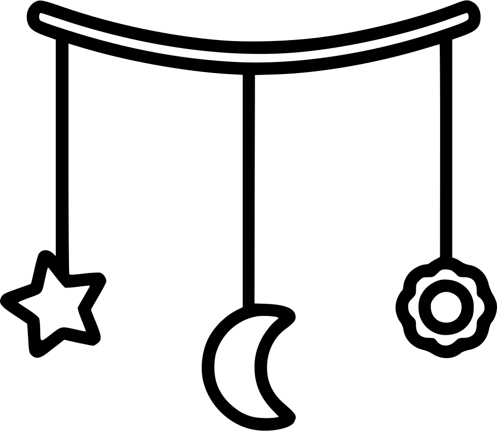 Transparent moon and stars clipart black and white - Mobile With Moon And Stars Comments