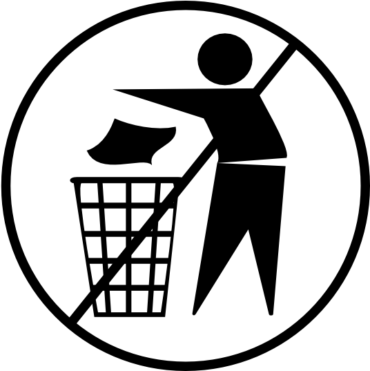Transparent throwing clipart - Keep Your City Clean