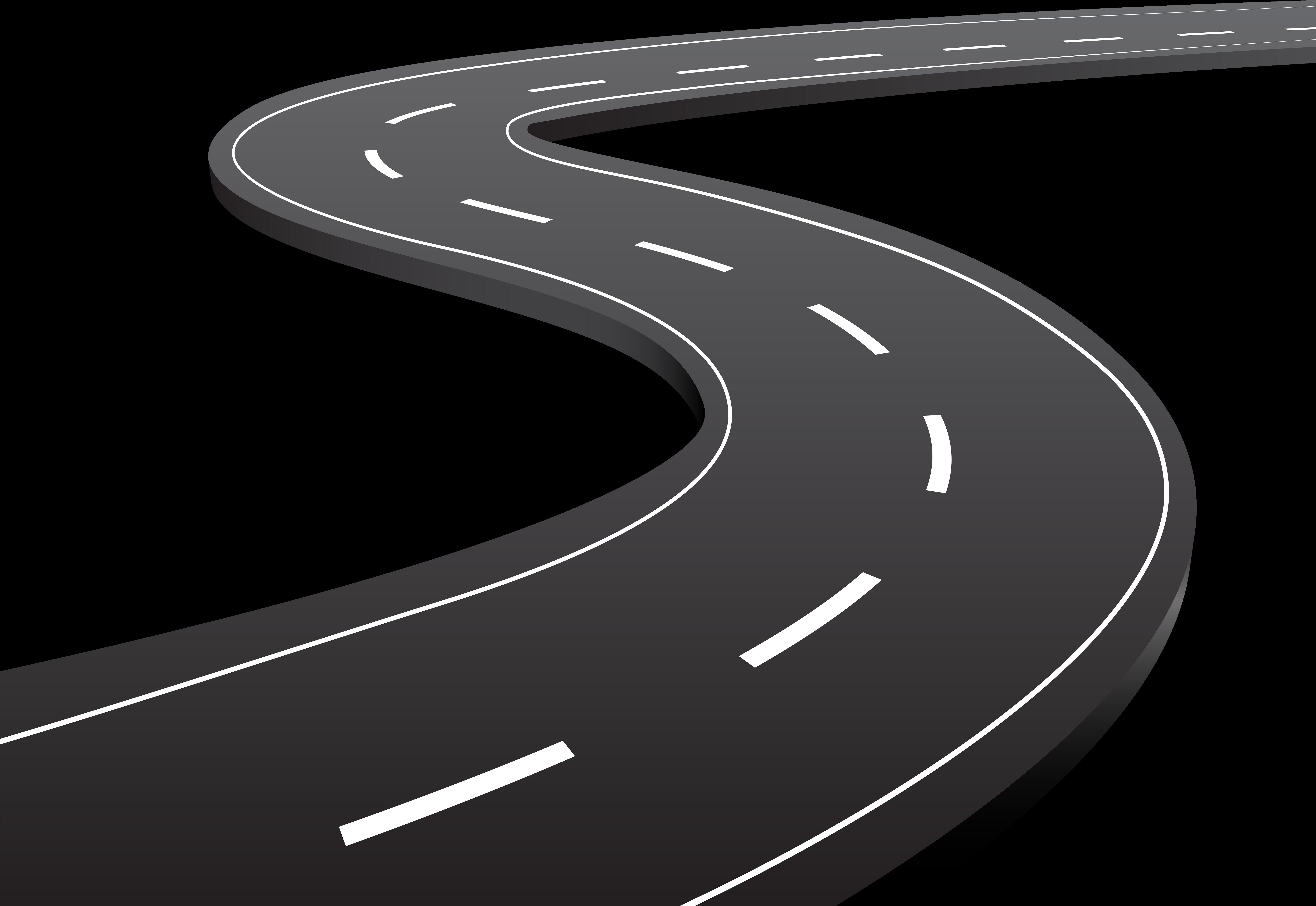Highway Clipart Tar Road - Transparent Road Clip Art ...