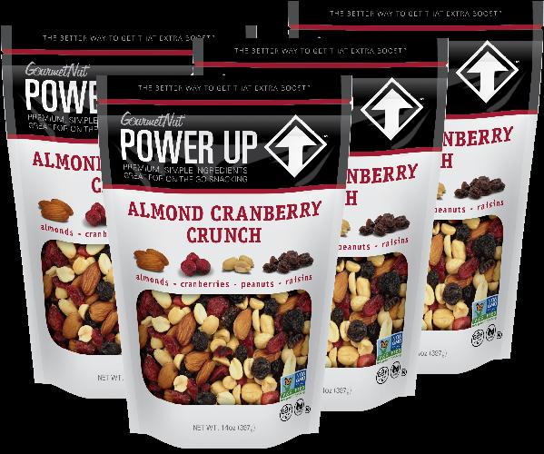 Transparent raisins clipart - 14oz Almond Cran Crunch 4 Pack - Power Up Trail Mix