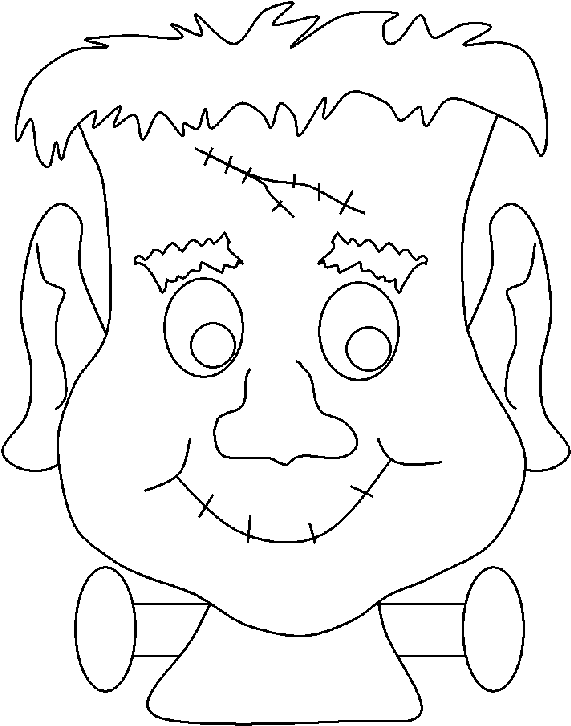 Halloween Monster Coloring Pages Halloween Frankenstein Coloring Sheets Transparent Cartoon Jing Fm