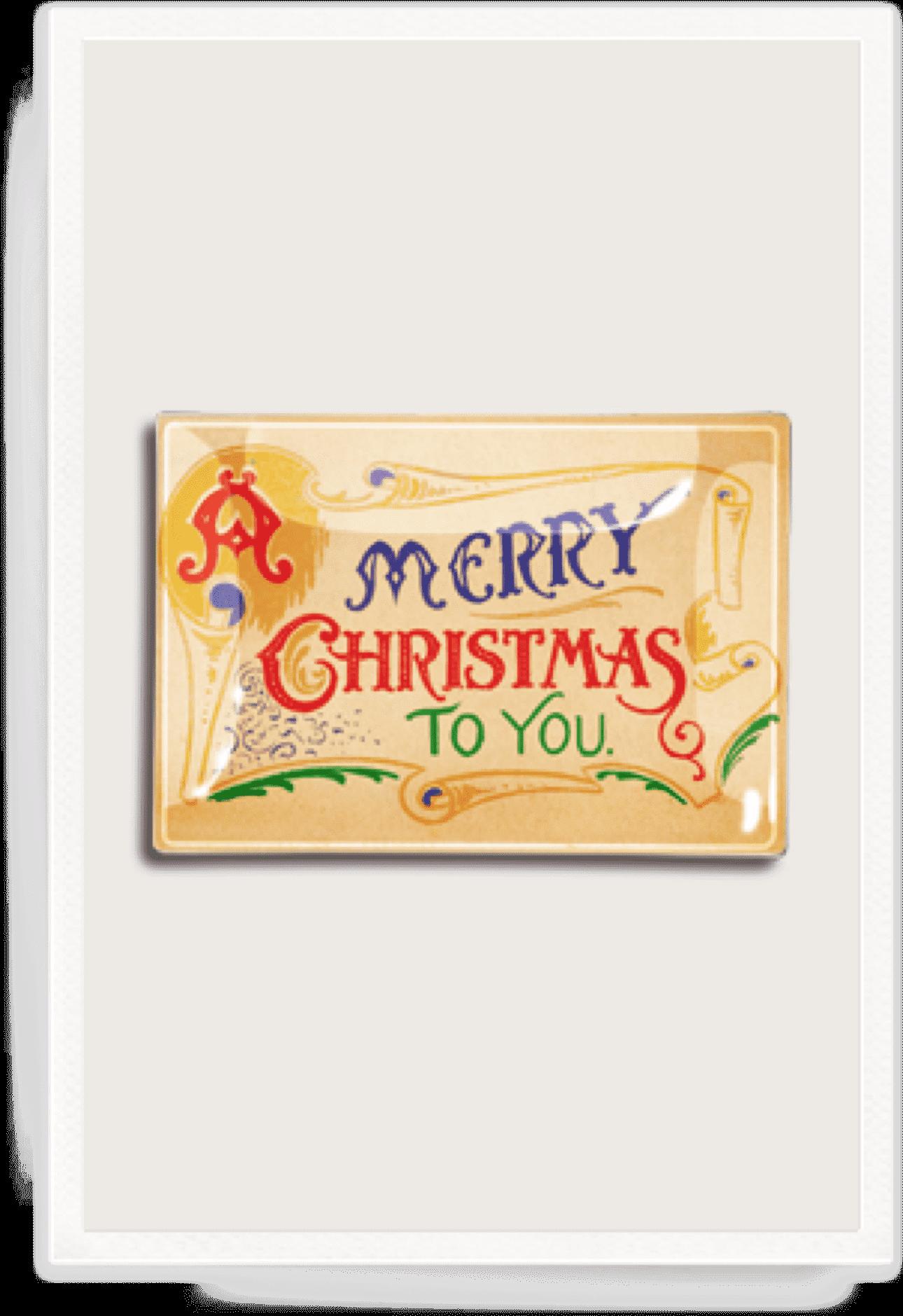 Transparent vintage merry christmas clipart - Ben's Garden - Calligraphy
