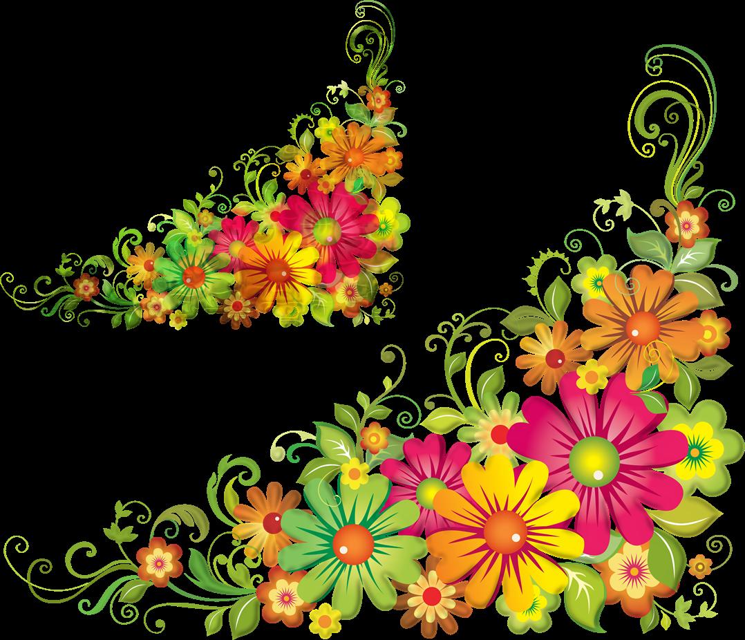 Transparent mexican flower clipart - Clip Art Flowers Border Png