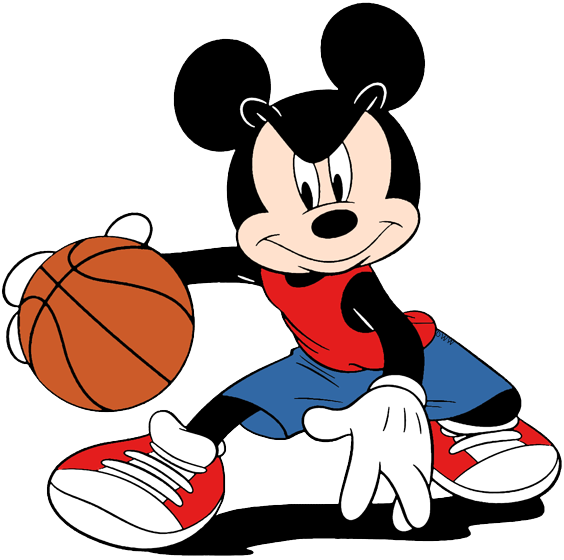 Mickey Mouse Clip Art - Mickey Mouse Basketball Clipart