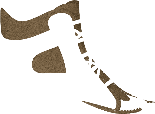Transparent hockey skates clipart - P1668 Brown Split Suede - Figure Skate