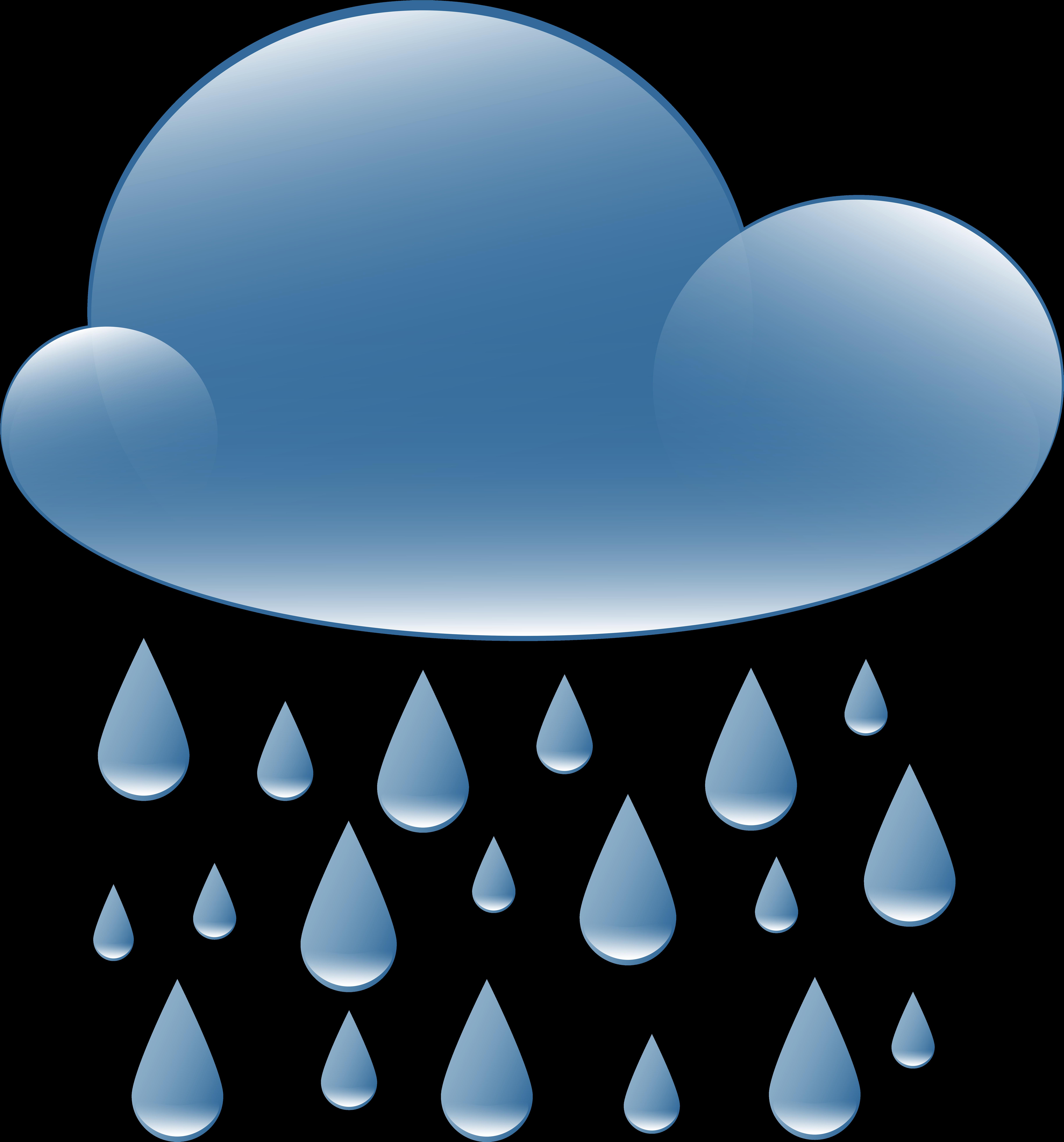 Transparent clouds clip art - Rain Cloud Weather Icon Png Clip Art
