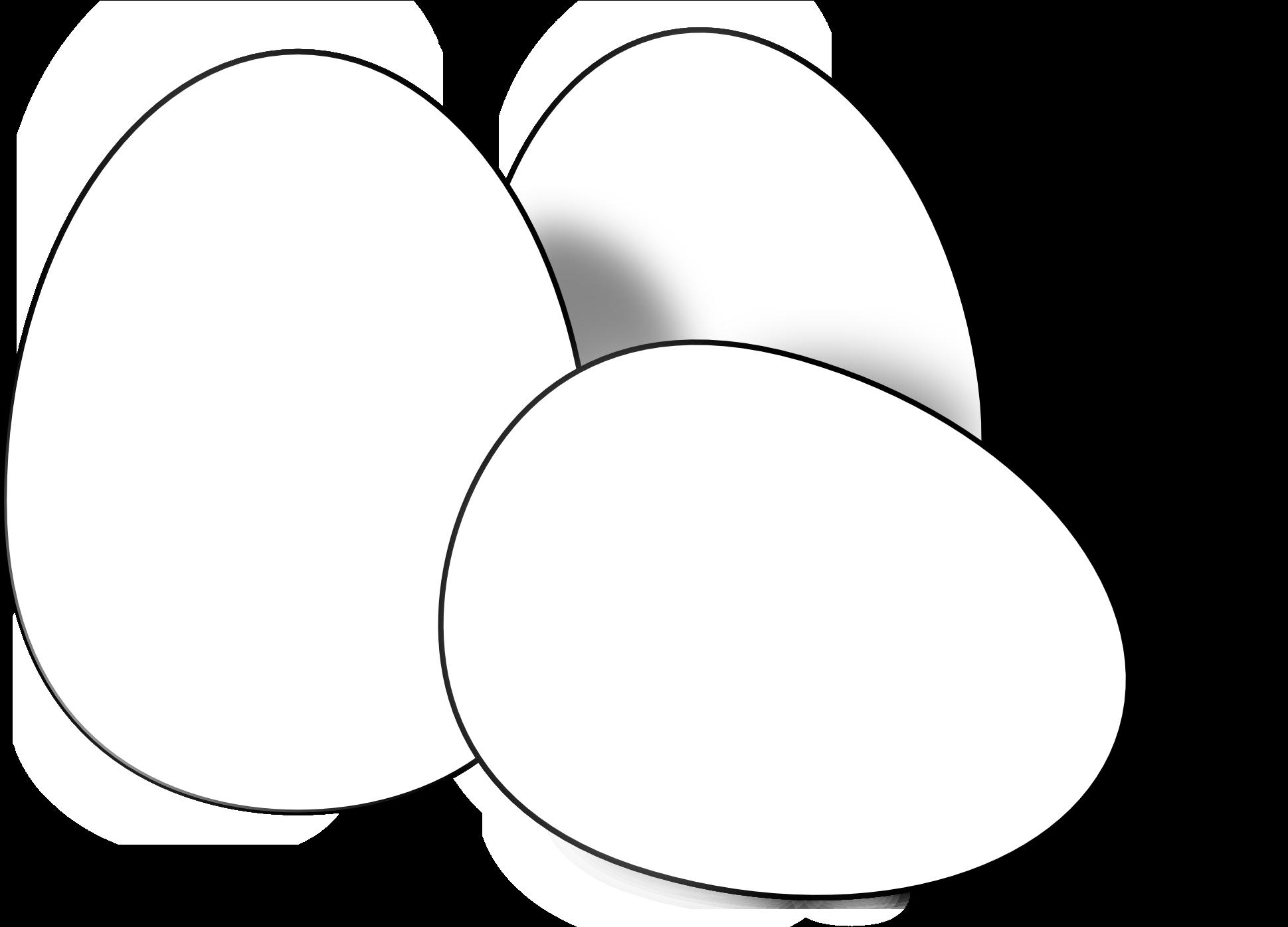 Clip Art: Basic Words: Eggs Color Unlabeled I abcteach.com | abcteach