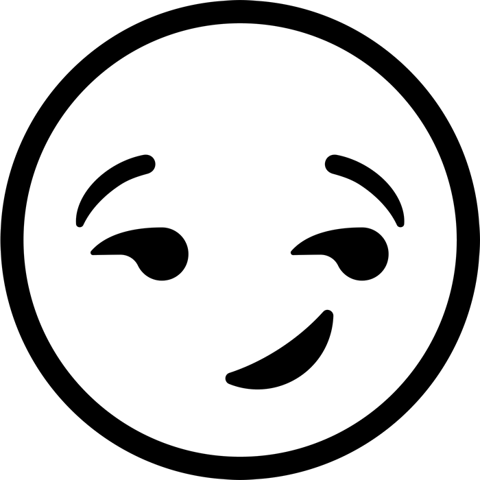 Smiley Face Png Black And White - Emoji Clipart Black And