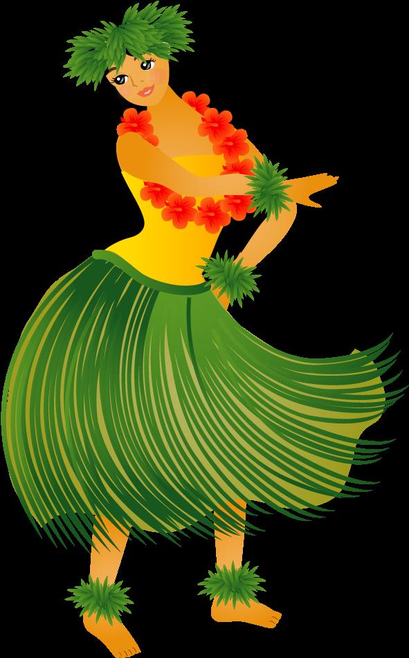 Hawaiian Aloha Tropical Transparent Hula Dancer Clip Art Transparent Cartoon Jing Fm