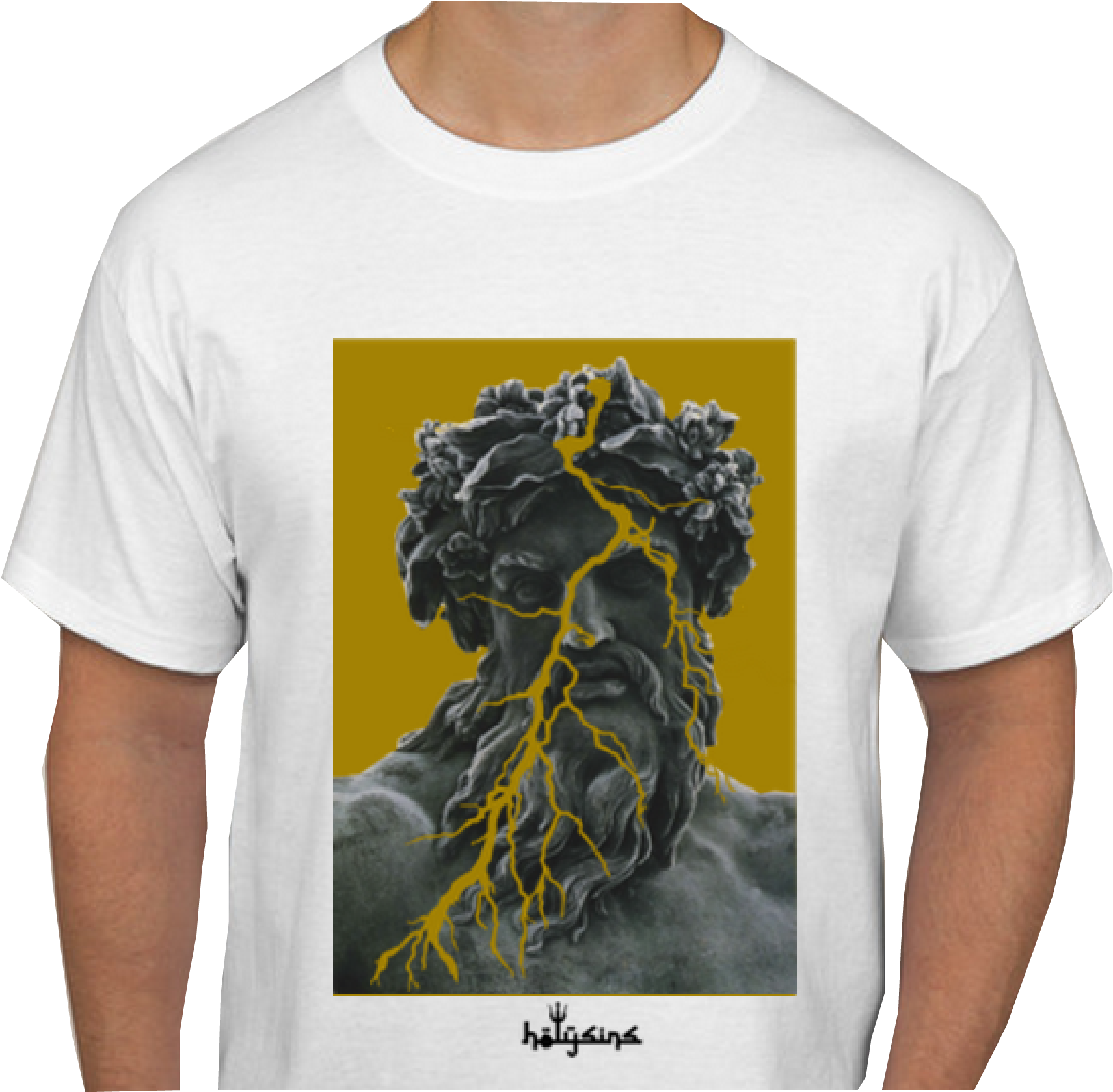 Transparent chaos clipart - Image Of Zeus Chaos Tee - Hades Greece Gods Statues