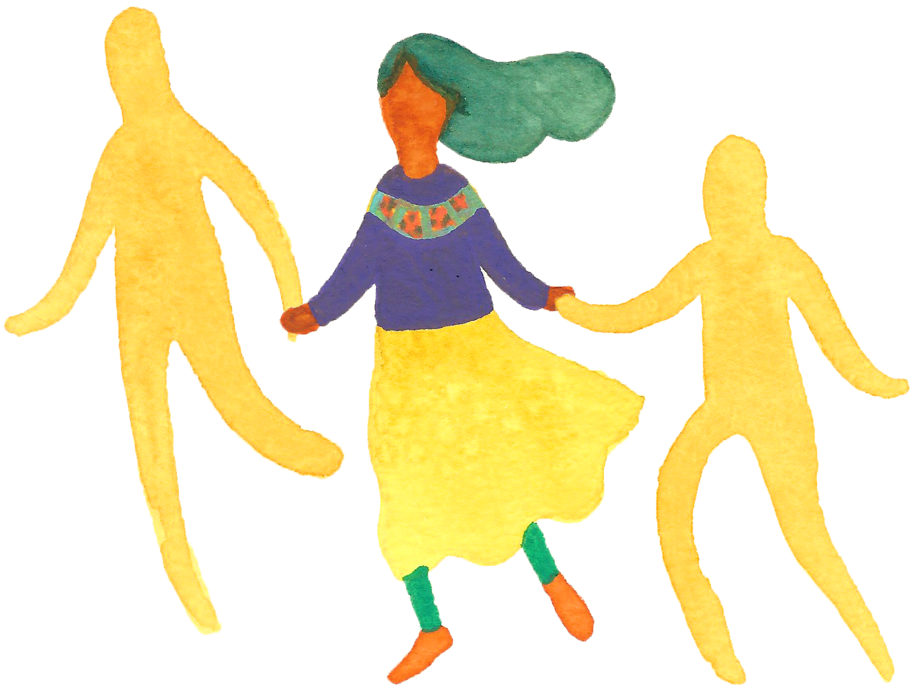 Transparent kids holding hands clipart - Circle Dancing - Flowers Dancing In Circle