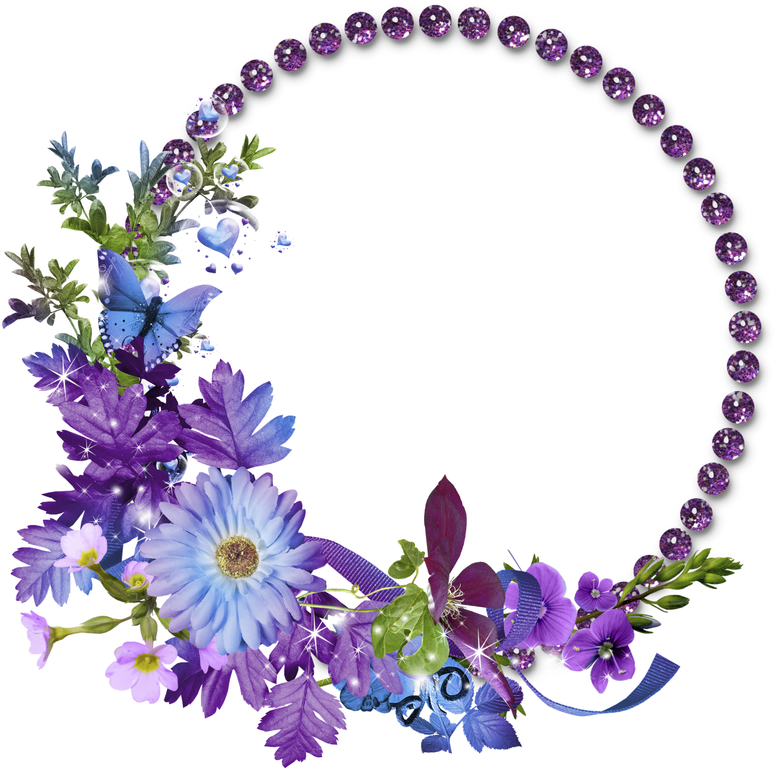Transparent circle frame clipart - Floral Round Frame Png Transparent Image - Circle Flower Frame Png