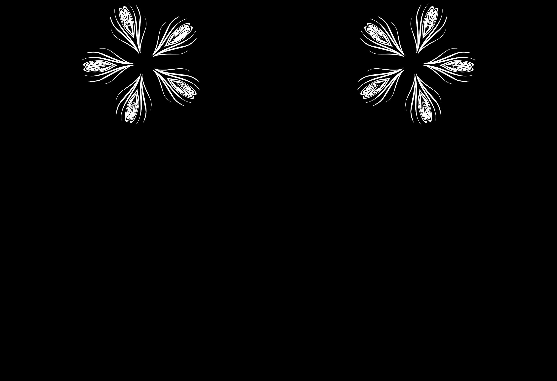 Transparent horseshoe clip art - Silhouette Flower Designs At - Line Art Flower Designs