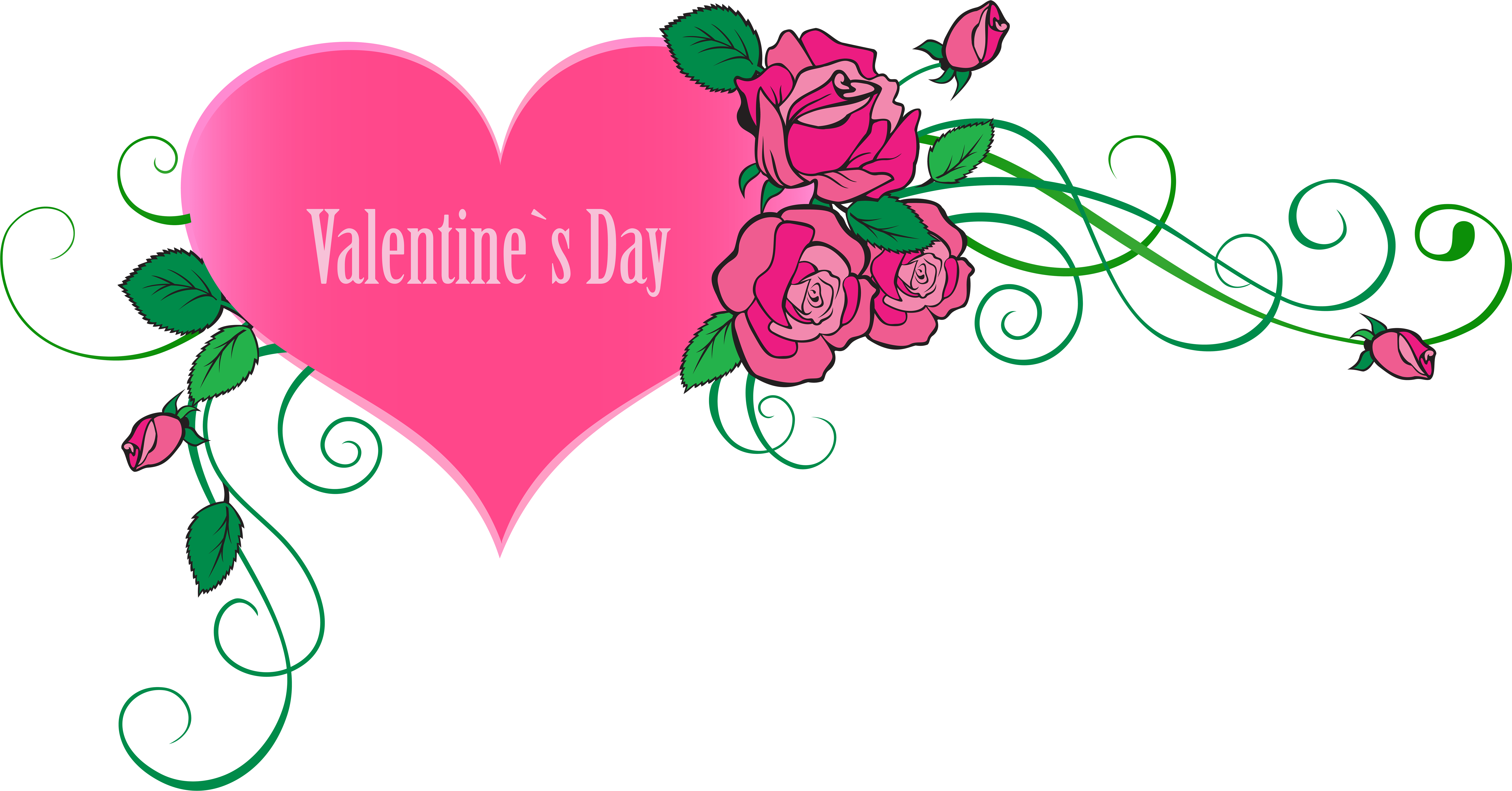 Transparent valentine's day clip art - Happy Valentine's Day Heart With Roses Transparent - Happy Valentine Day View