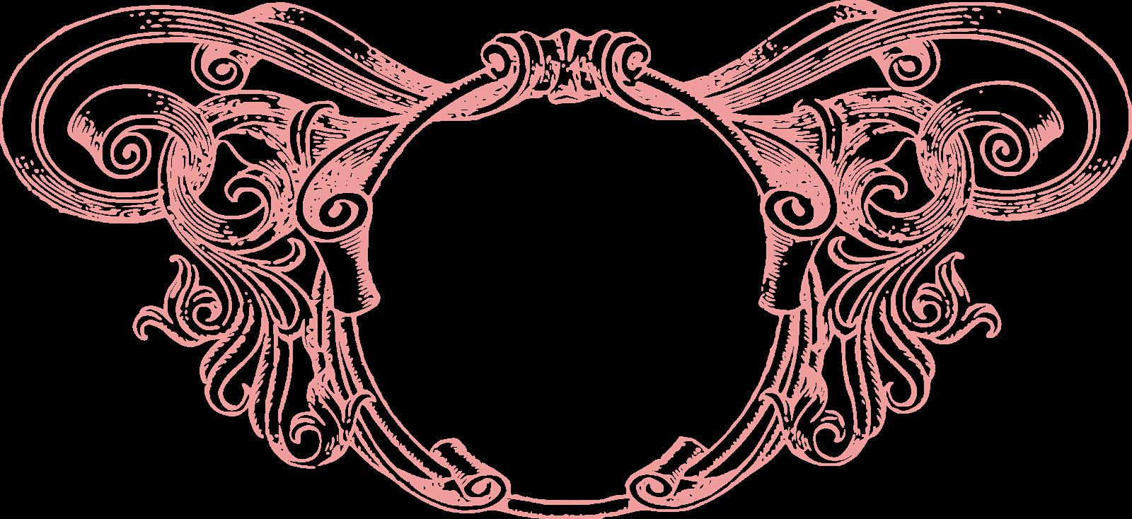 Transparent vintage clipart - Name Clipart Vintage - Vintage Border Pink Png