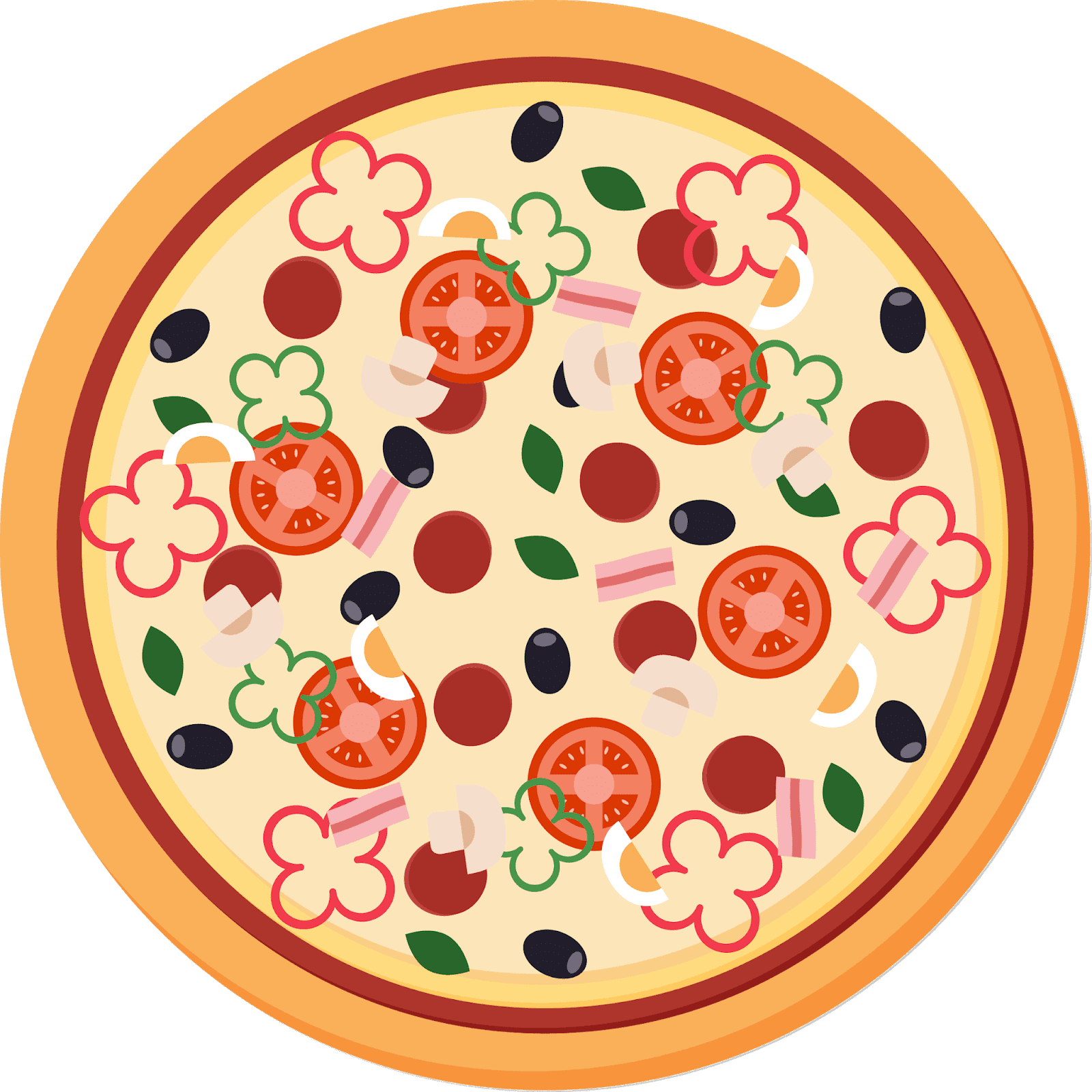 Transparent clipart of pizza - Pizza Images Clipart- Pizza, Sicilian Pizza, Italian - Pizza Vector Png Free