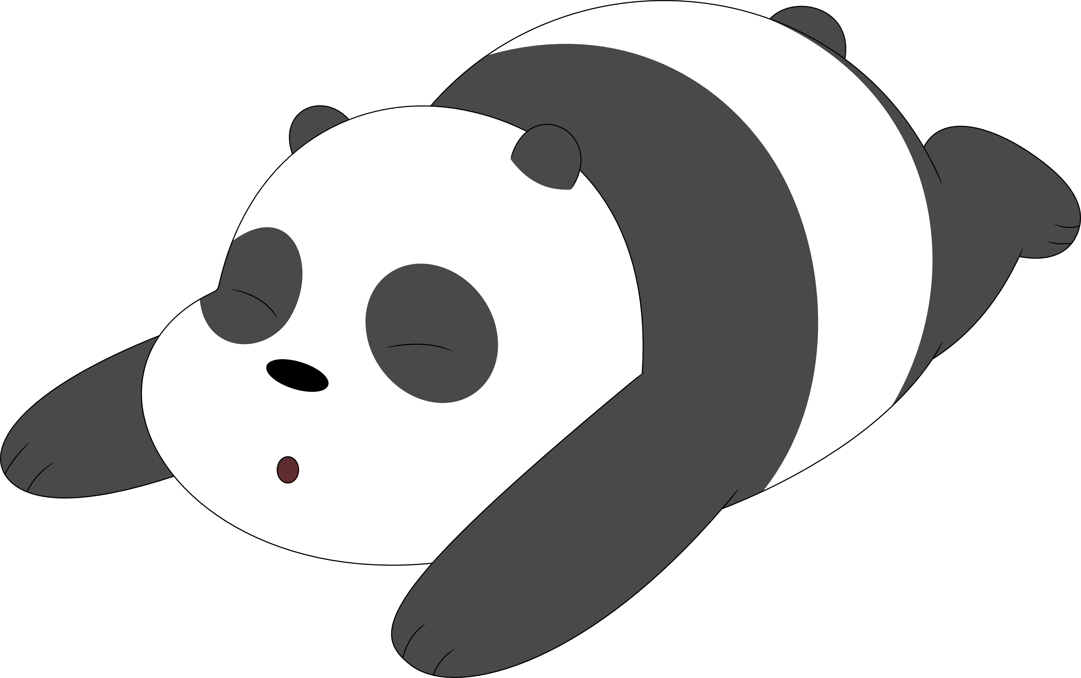 Transparent chicago bears clipart - We Bare Bears Panda Png - Panda We Bare Bear