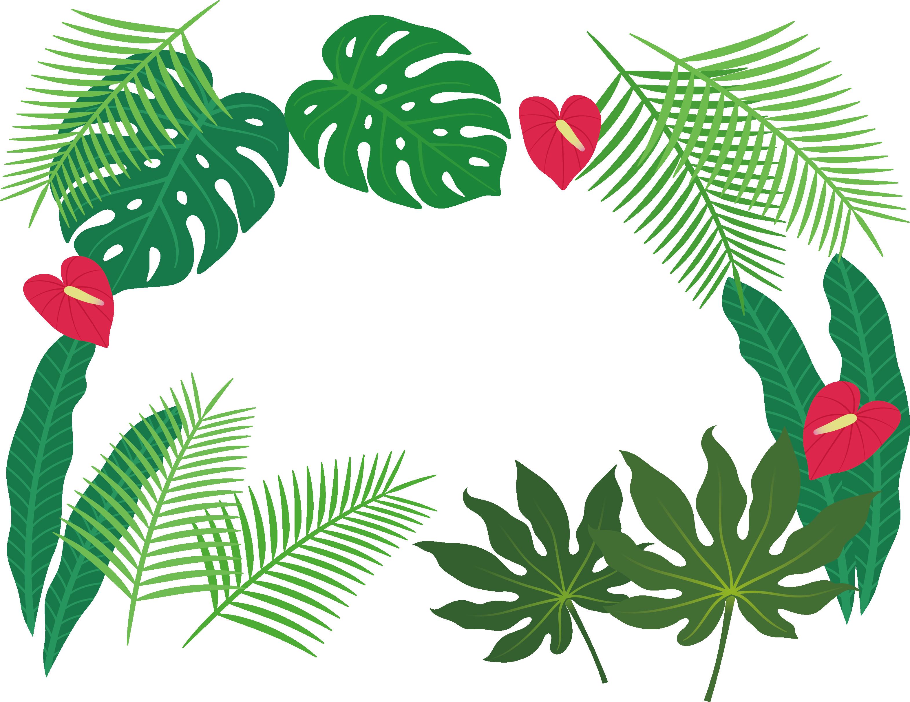 Clip Art Tropical Plant Leaves Border Transprent Tropical Leaves Tropical Vector Png Transparent Cartoon Jing Fm 115,000+ vectors, stock photos & psd files. clip art tropical plant leaves border