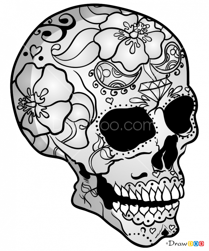 Transparent skeletons clipart - Skeletons Drawing Mechanical - Mexico Skull Drawing