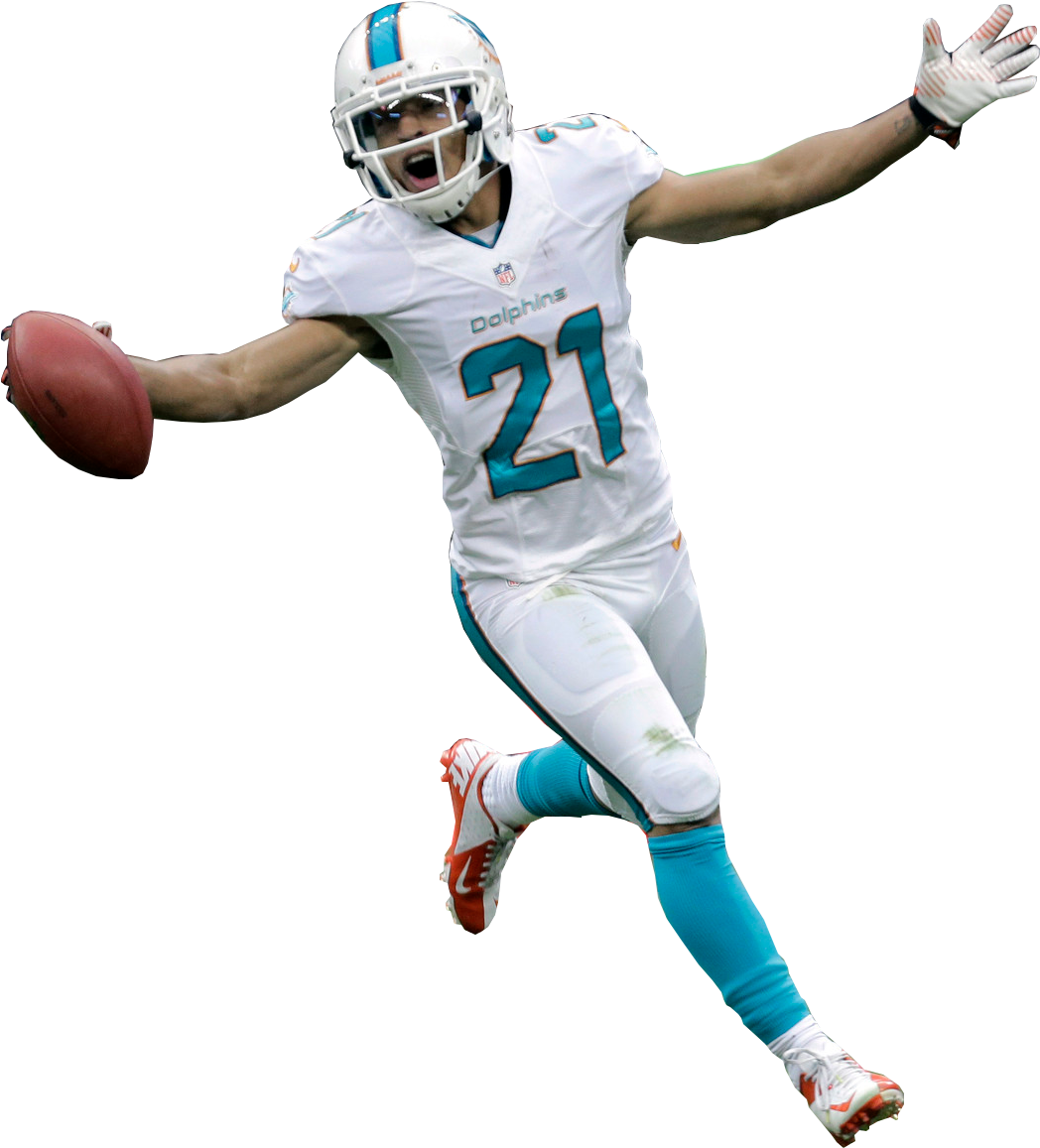 Transparent free football cliparts - Free Clipart American Football Punter Black And White - Miami Dolphins Player Png