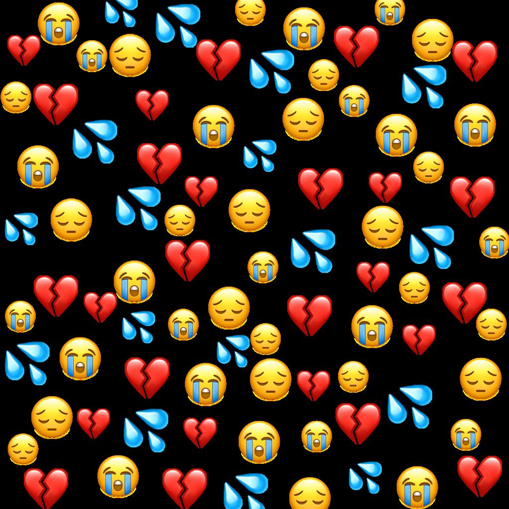 sad #emoji #emojis #whatsapp #sademoji #cry #heart