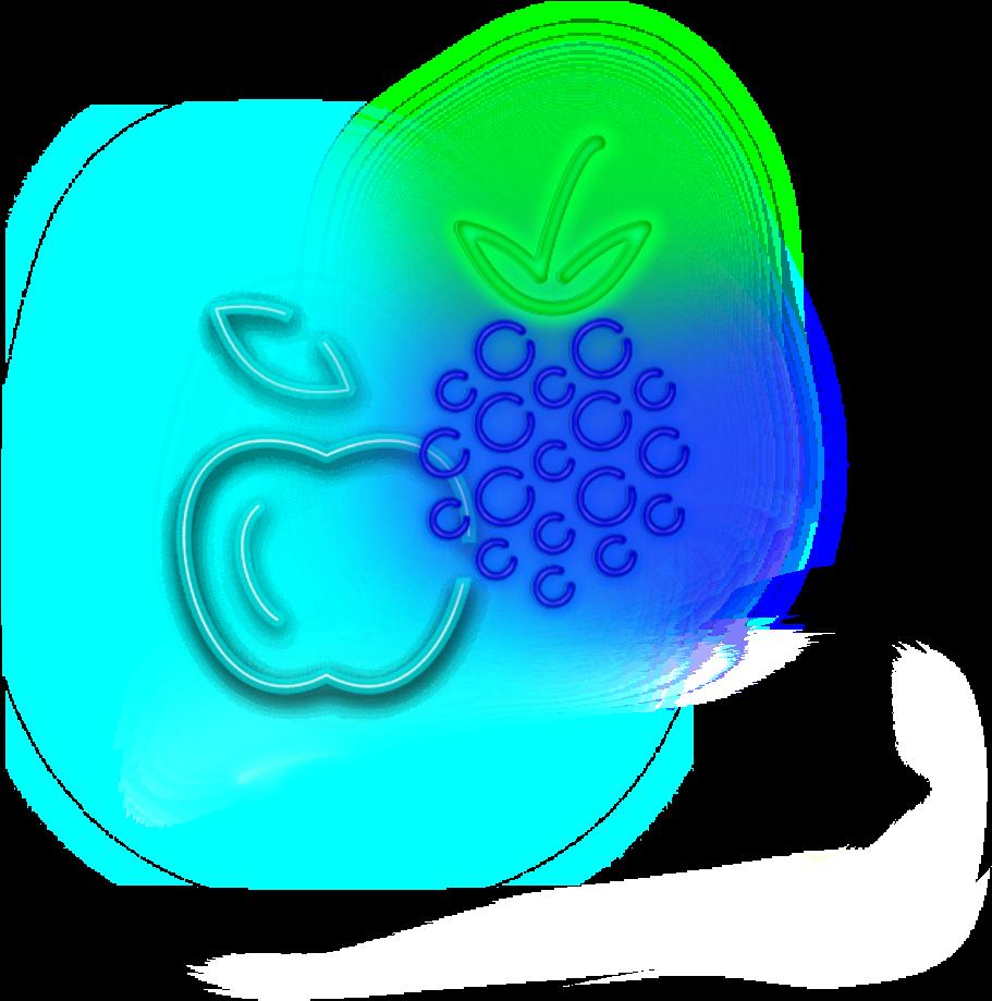 mq #fruit #blackberry #apple #blue #neon - Circle